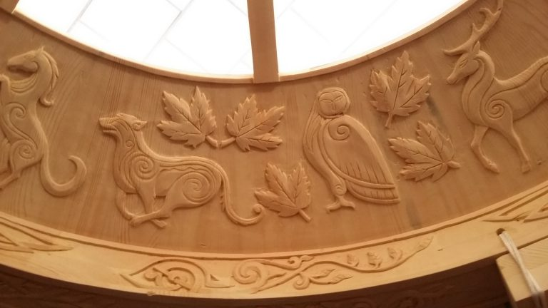 beautiful carved yurt crown
